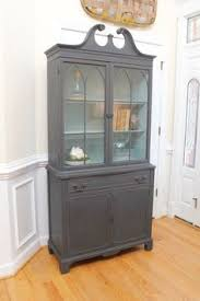 vintage china cabinet annie sloan chalk paint french linen