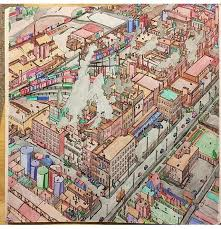 12 Best Fantastic Cities Coloring Book Completed Pages Inspiration