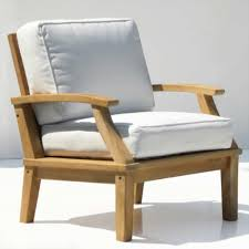 Smith And Hawken Teak Patio Chairs by Furniture Deep Seating Chair Teak Outdoor Furniture With White