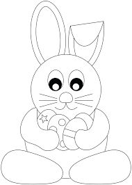 Bunny Coloring Pages Eggs Easter Basket Sunday School For Preschool Full Size
