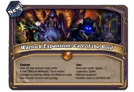 Warlock Deck Hearthstone Frozen Throne by Warlock Expansion Pack