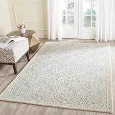 Safavieh Handmade Moroccan Cambridge Light Blue Ivory Wool Rug