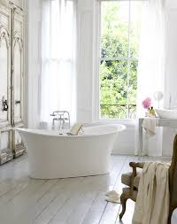 Shabby Chic White Bathroom Vanity by Skirted Bathroom Vanity Cottage Bathroom Laura Moss Photography