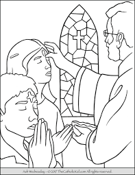 Lent Ash Wednesday Coloring Page