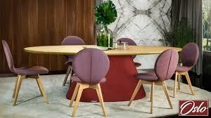 ovaler esstisch esszimmertisch tisch küchentisch 220 x 115 cm serie oslo eleganz trapez körper from bordeaux rot helles holz design