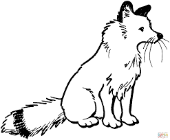 Click The Red Fox Sit Coloring Pages To View Printable Version Or Color It Online Compatible With IPad And Android Tablets