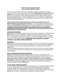 Resume Cover Letter Sample Law Enforcement Save Entry Level Police