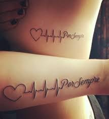 Heart Tattoo With Heartbeat 13