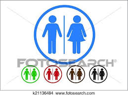 clipart pictogramme femme homme signe icônes toilette signe