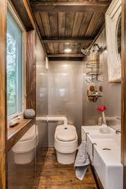 A High-end, Custom Tiny House On Wheels Built By New Frontier Tiny ... Tiny Home Interiors Brilliant Design Ideas Wishbone Bathroom For Small House Birdview Gallery How To Make It Big In Ingeniously Designed On Wheels Shower Plan Beuatiful Interior Lovely And Simple Ideasbamboo Floor And Bathrooms Alluring A 240 Square Feet Tiny House Wheels Afton Tennessee Best 25 Bathroom Ideas Pinterest Mix Styles Traditional Master Basic