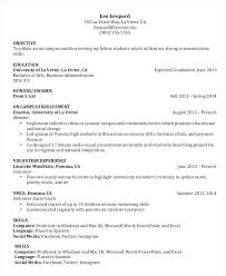 College Student Resume Example Awesome Objective For A Undergraduate Of