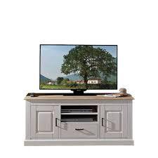 landhaus tv schrank mariessa in weiß eiche hell