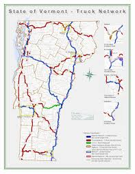 100 Truck Route Map Vermont Road Network Ezbordercrossing