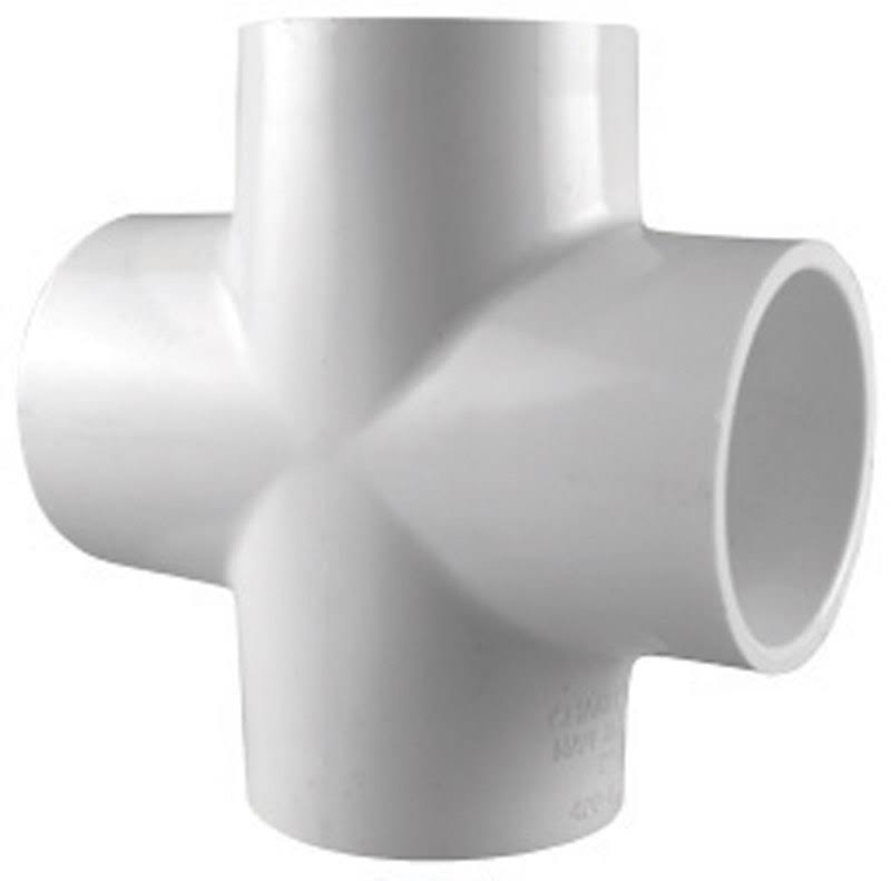 "Charlotte Pipe PVC Schedule 40 Cross - 1/2"", White"