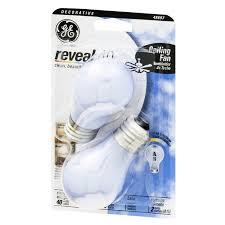 ge reveal 40 watts ceiling fan medium base light bulbs from