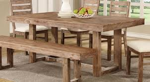 Ortanique Dining Room Table by Elmwood Wire Brushed Nutmeg Wood Dining Table Kitchen Dining