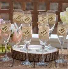 Shabby Chic Wedding Party Glasses Rustic Gifts