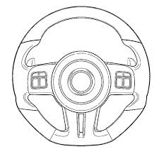 Car Parts Steering Wheel Colouring Page Coloring