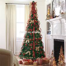 New Design Pull Up Christmas Tree Decorations Butterfly Bow Bowknot