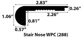 Vesdura WPC White Oak Veneer Moldings
