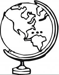 Globe Coloring Pages 5