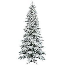 Vickerman Flocked Utica Fir Christmas Tree Collection