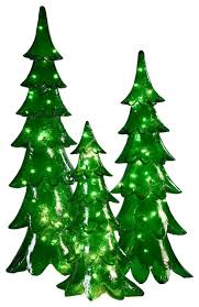 Barcana Christmas Trees by Led Green Alpine Contemporary Outdoor Holiday Decorations By