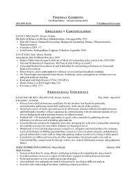 Example Resume College Student Athlete Internship Sample