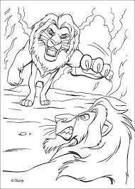 Discover This Coloring Page Of The King Lion Movies Color Mufasa Fights Scar More