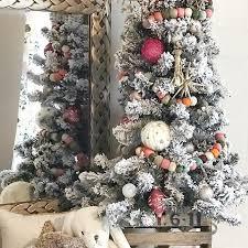 Nursery Mini Flocked Tree With Felt Garland And Boho Inspired