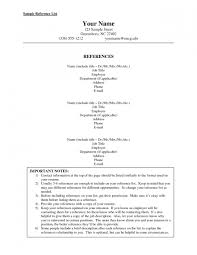 100 Resume Reference Page List Of S For Job Interview Example Template