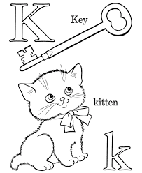 Alphabet Letter K Coloring Pages