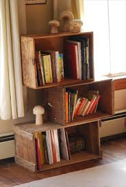 Wooden Crate Wall Shelves Wide Space Thin Strong Material Diy Furniture Large Square Brown Portable