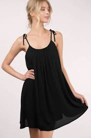 cute black shift dress tie strap dress shift dress c 15