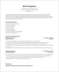 Insurance Underwriter Resume Profile Medical Secretary Examples Of Resumes