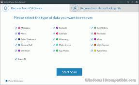Kvigo iPhone Data Recovery for Windows 2 3 1 Free
