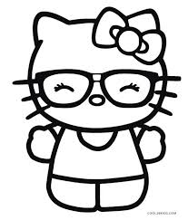 Free Hello Kitty Birthday Coloring Pages Melody Printable Merry