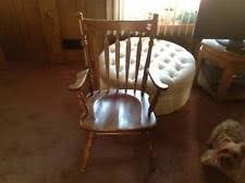 Ethan Allen Colby Swivel Chair by Antique Captains Chair Ebay