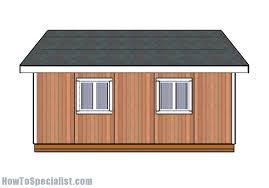 Shed Plans 16x20 Free by 16x20 Shed Plans Howtospecialist How To Build Step By Step