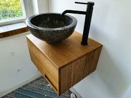 waschtisch nach maß eiche eichenholz set gäste wc badezimmer