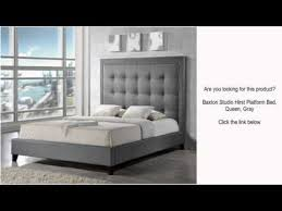 baxton studio hirst platform bed queen gray youtube