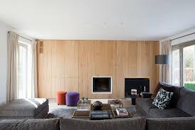 holzpaneelwand im wohnzimmer mit bild kaufen 11418918