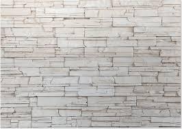 White Stone Tile Texture Brick Wall Poster