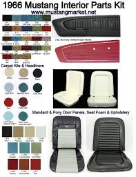 100 Truck Interior Parts 66 Mustang Colors With 1966 Kit 9 Car SUV