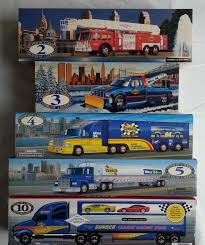 Lot Of 8 NIB Collectible Sunoco Toy Trucks Plus Race Cars ...