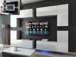 details zu moderne wohnwand schrankwand hochglanz wohnzimmer concept 20 inkl led
