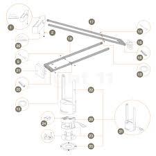 Tizio Lamp Led Bulb by Artemide Spare Parts For Tizio 50 Black Buy At Light11 Eu