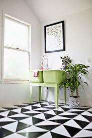 make a patterned floor with linoleum tile tile flooring sinks