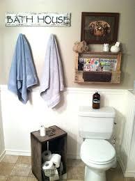 Rustic Bathroom Decorations Decor Barn Wood Shelf Accessories Wall
