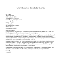 resume exles cover letter sle human resources manager